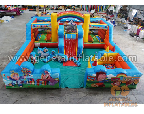 GF-116 Kids world indoor playland with softplay and ball pon
